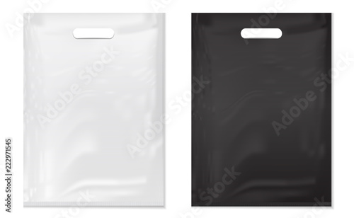 18+ stunning free black bag mockups psd templates: Plastic Bags On White Background White And Black Plastic Bag Mockup Set Of Realistic Shopping Bag For Branding And Corporate Identity Design Vector Set Mock Up Stock Vector Adobe Stock