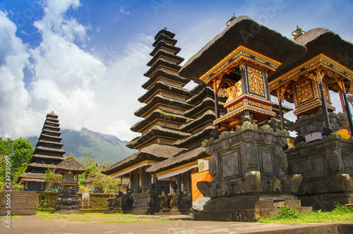Bali Indonesia Pura Besakih Or Mother Temple Balinese Largest Hinduist Temple And Most Famous Tourist Place With Lots Of Hinduist Pagodas Buy This Stock Photo And Explore Similar Images At Adobe