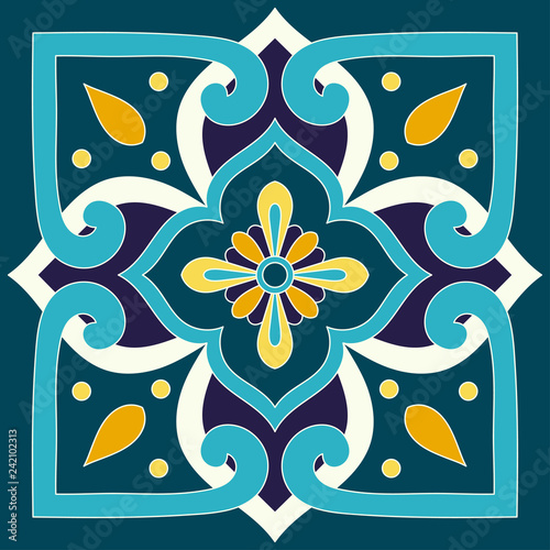 https stock adobe com images mexican tile pattern vector with vintage ornaments motifs mexico talavera print portuguese azulejos italian sicily majolica spanish ceramic mosaic texture for bathroom or kitchen wallpaper 242102313 start checkout 1 content id 242102313