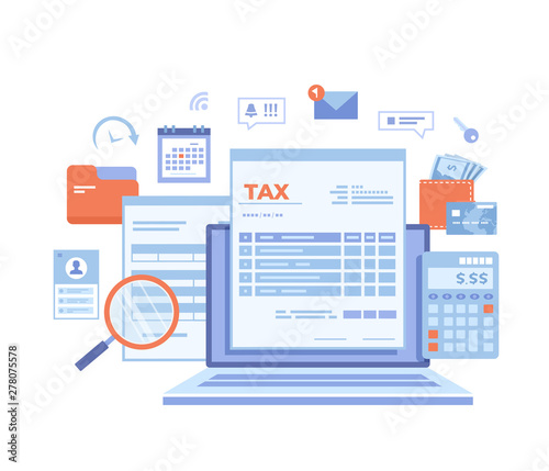 In terms of usage, it's an identical replacement for a regular credit card, which can be very. Tax Payment State Government Taxation Calculation Of Tax Return Tax Form Financial Calendar Magnifying Glass Money Credit Card Invoice Vector Illustration On White Background Stock Vector Adobe Stock