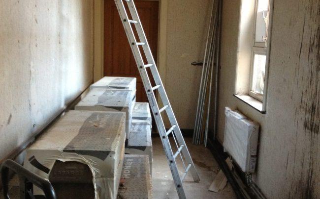 Renovatie overloop voor foto