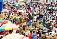Big market in Ghana