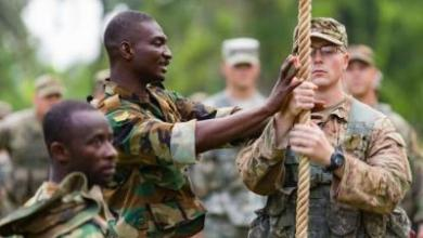 US troops training at Achiase, Ghana