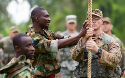 US troops training at Achiase, Ghana