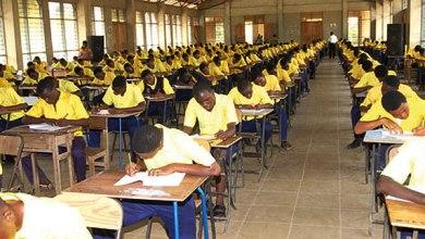 Students sit WAEC's WASSCE exams