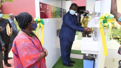 Photo of Dico Systems presents body sanitising chamber to Jubilee House
