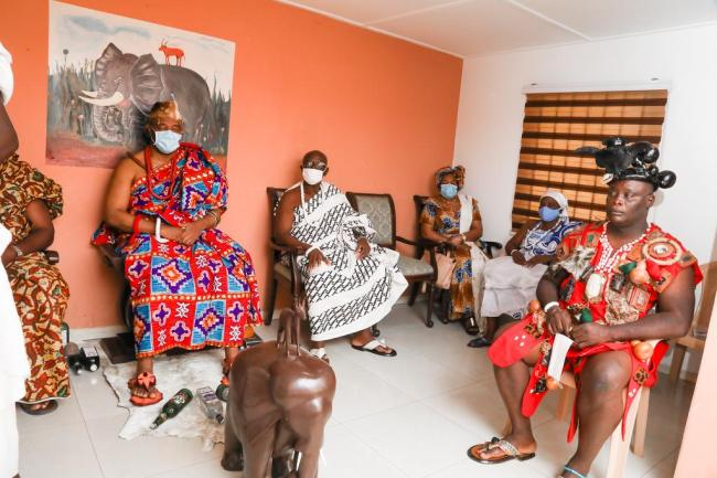 Rebecca Akufo-Addo visits chiefs in Accra, ushering in Homowo