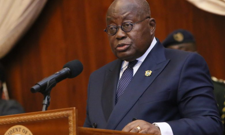 President Akufo-Addo at swearing-in of three new Court of Appeal judges