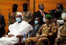 Photo of Ba N'Daou sworn in as transitional president of Mali