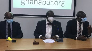 Anthony Forson, president, with other national executive members of the Bar Association