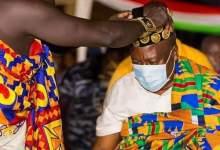 John Mahama becomes Nkosuohene of Apesika in Bono East