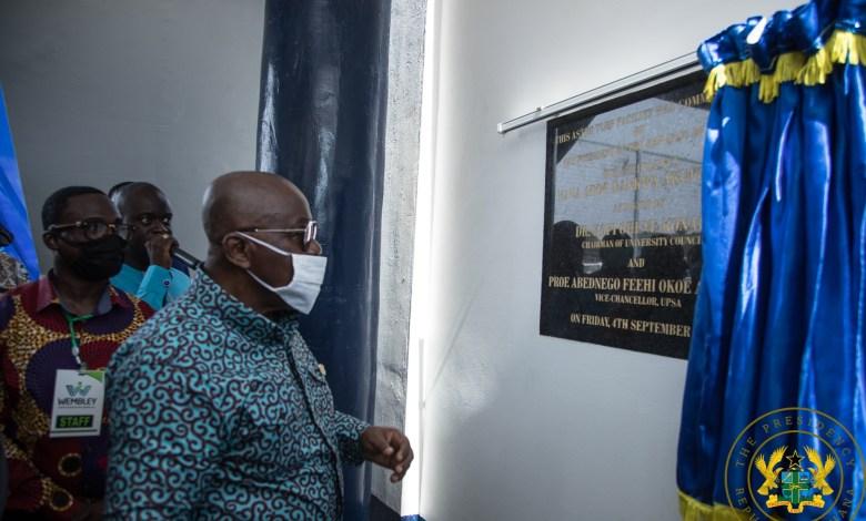 President Akufo-Addo commissions UPSA's new AstroTurf stadium