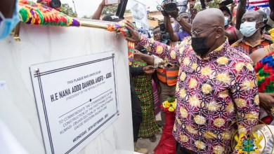 Photo of Akufo-Addo cuts sod for 83.5-kilometre Kumasi-Obuasi railway line