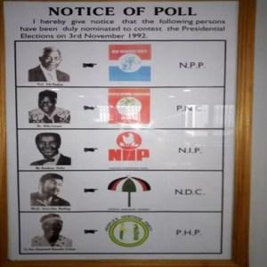 Election 1992 ballot paper