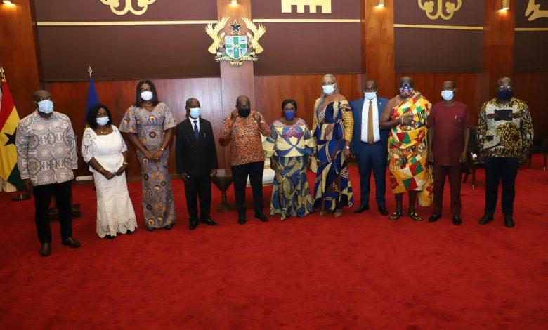 President Akufo-Addo and RTI Commission board