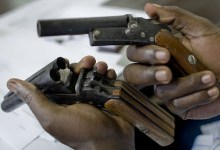 Illegal firearms: locally made pistols