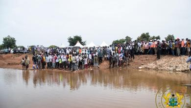 """Photo of Akufo-Addo inspects completed Namoligo """"One Village, One Dam"""" project"""
