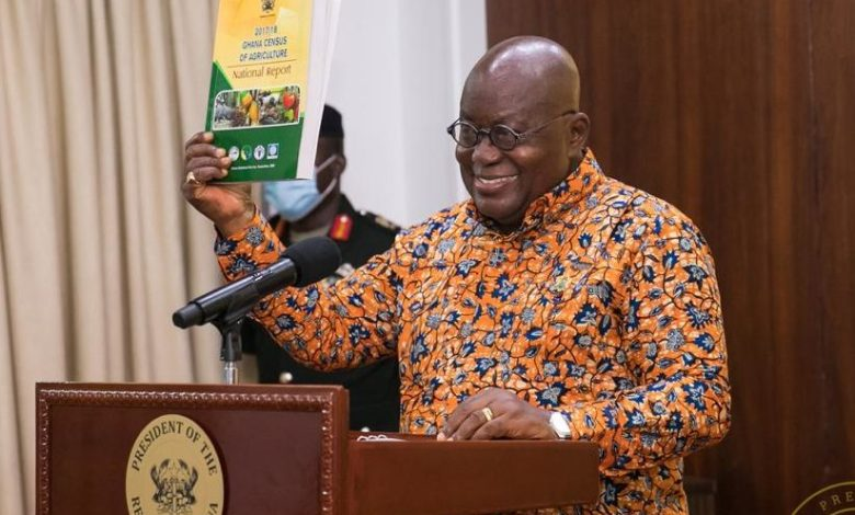 President Akufo-Addo presents the National Census of Agriculture 2017/18