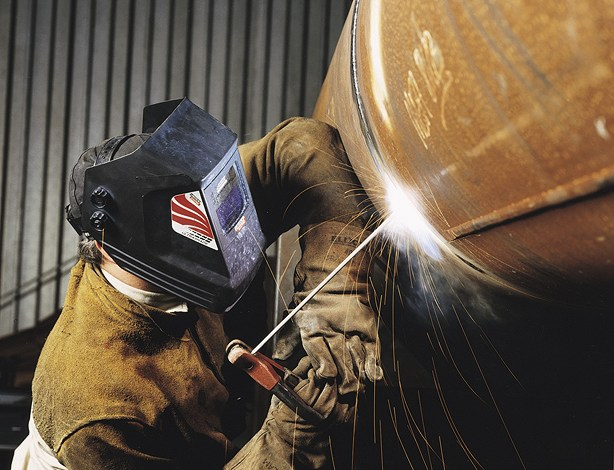Working as a welder