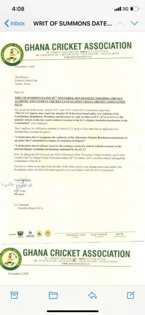 GCA letter