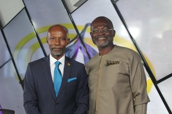 "Kennedy Agyapong (right) with Kojo Mensah, host of Asaase Radio's ""Sunday Night"""