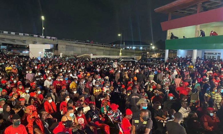 NDC vigil for Jerry Rawlings, Accra, 21.11.2020