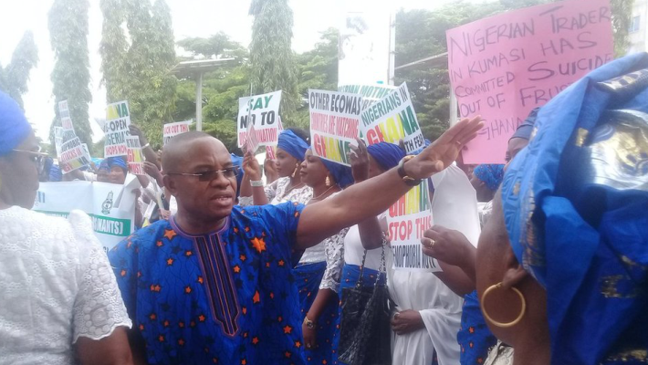 Nigerian traders protest