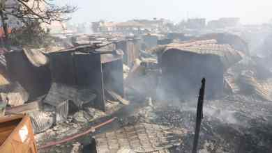 The Odawna Pedestrian Market after the fire | Photo: Wilberforce Asare