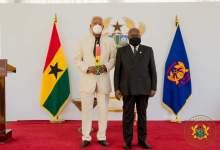 Nana Akufo-Addo and E.T Mensah, a council of state member
