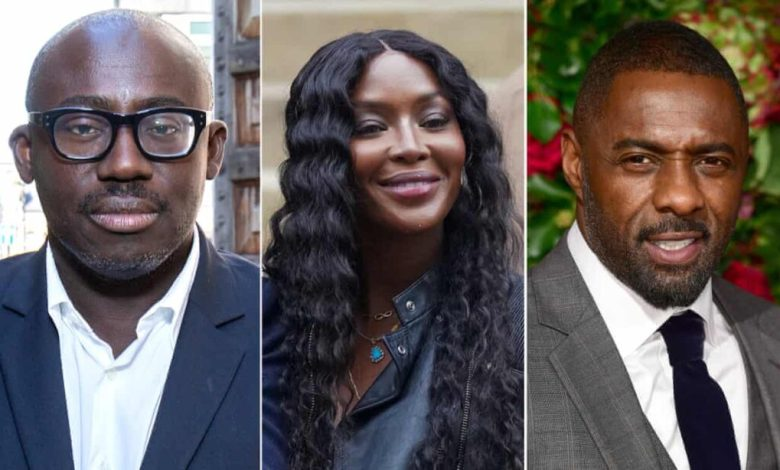 Edward Enninful (left), Naomi Campbell and Idris Elba are among the signatories of the letter. Photograph: Agencies
