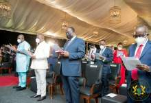 Akufo-Addo swore in the ministers