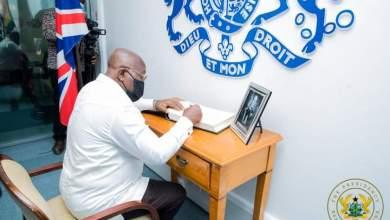 Nana Addo Dankwa Akufo-Addo signs Prince Philips book of condolence