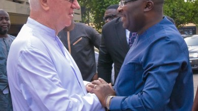 Rev Father Andrew Campbell and Dr Bawumia