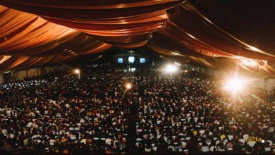 Rear view of the Christ Embassy Church's event at the Fantasy Dome
