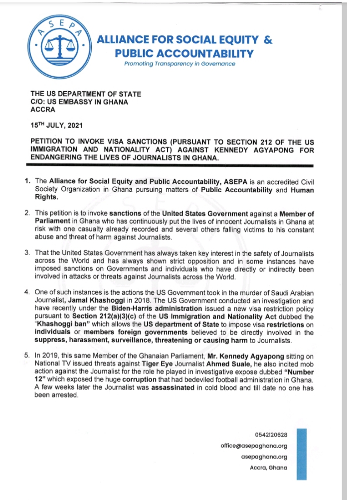 ASEPA petitions US to impose visa restrictions on Ken Agyapong,ASEPA,aespa,asepa ghana,asepa ghana website,asempa fm,aespa next level,asepa ghana full meaning,aespa next level lyrics,aespa black mamba,asepa mensah thompson,aespa karina,Kennedy Agyapong,kennedy agyapong net worth,kennedy agyapong news,kennedy agyapong children,kennedy agyapong cars,kennedy agyapong and kwame despite who is the richest,kennedy agyapong private jet,kennedy agyapong companies,kennedy agyapong mobile number,kennedy agyapong daughters,Erastus Asare Donkor