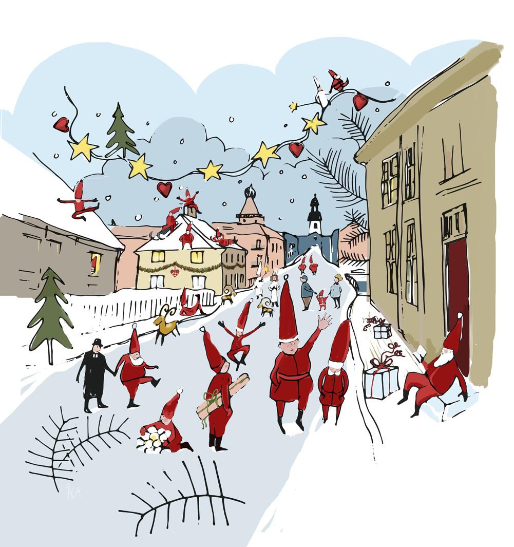 Bokdagar i Dalslands julillustration 2015
