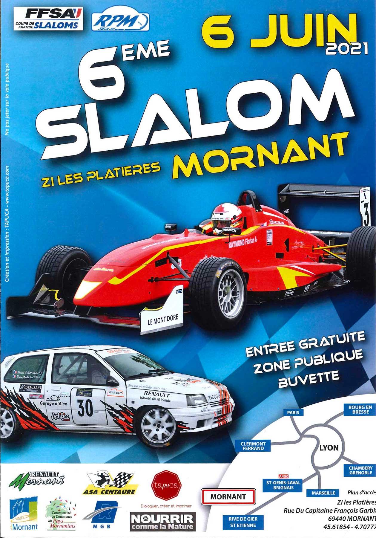 6ème slalom de Mornant - affiche