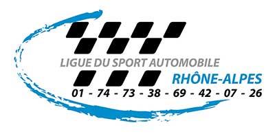 Ligue du sport automobile - Rhône alpes - Logo