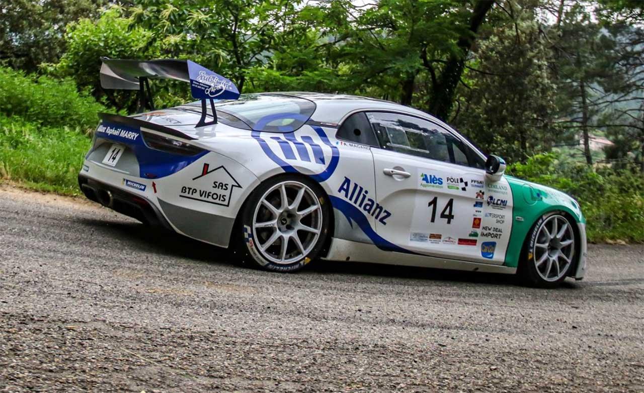 Raphaêl MARRY et Alexis MAGAND sur Alpine RGT au rallye du Gard 2021