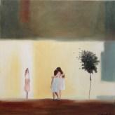 Drömland/Dreamland. Åsa Chambert. Olja på duk/Oil on canvas. 55x55 cm.