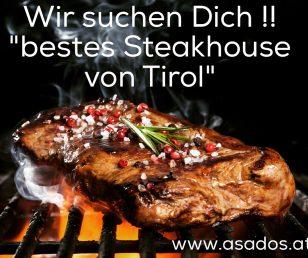 Arbeiten im Asado's: bestes Steakhouse von Tirol