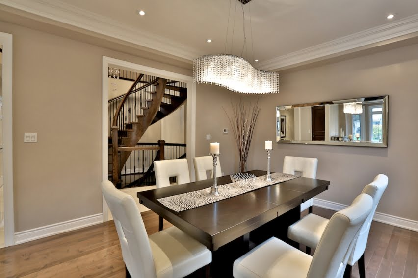 Chandelier Installation in dinning room