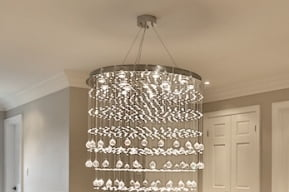 Chandelier Installation ceiling