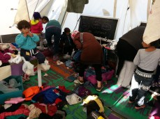 And chaos ensues inside the tent...
