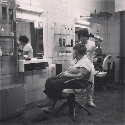 Dia de princesa no cabelereiro.