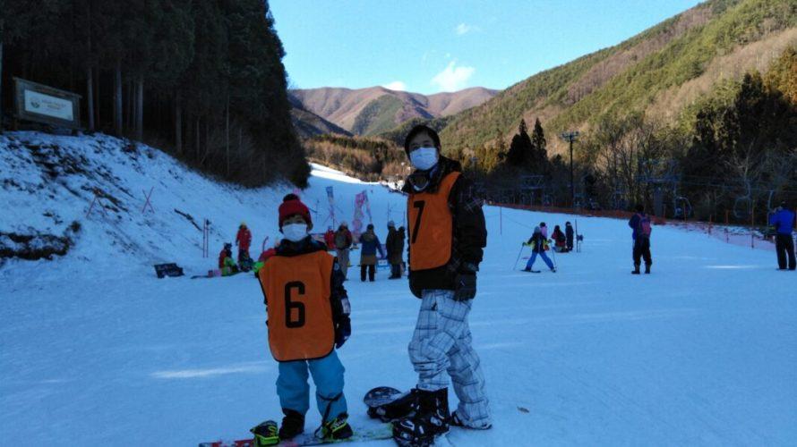 親子でのスノーボードレッスン受講