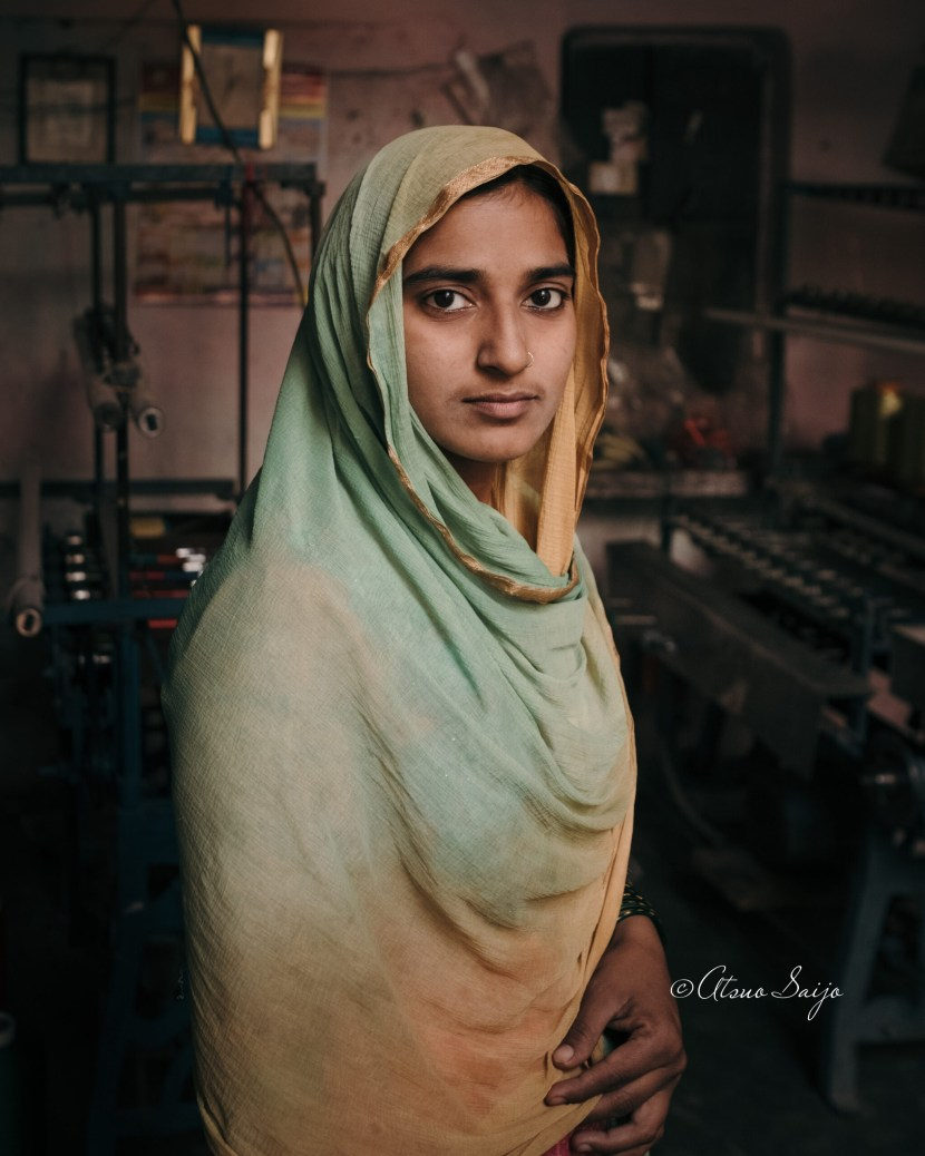 Woman in a textile workshop