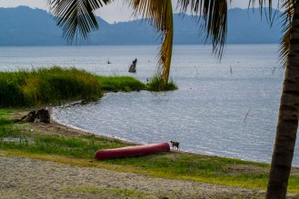 a view of the lake from the lawns of Paradise hotel