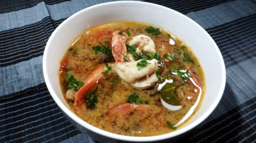 Receta Tom Yum Coong - o Tom Yam Kung - O Sopa tailandesa de jengibre y gambas 1