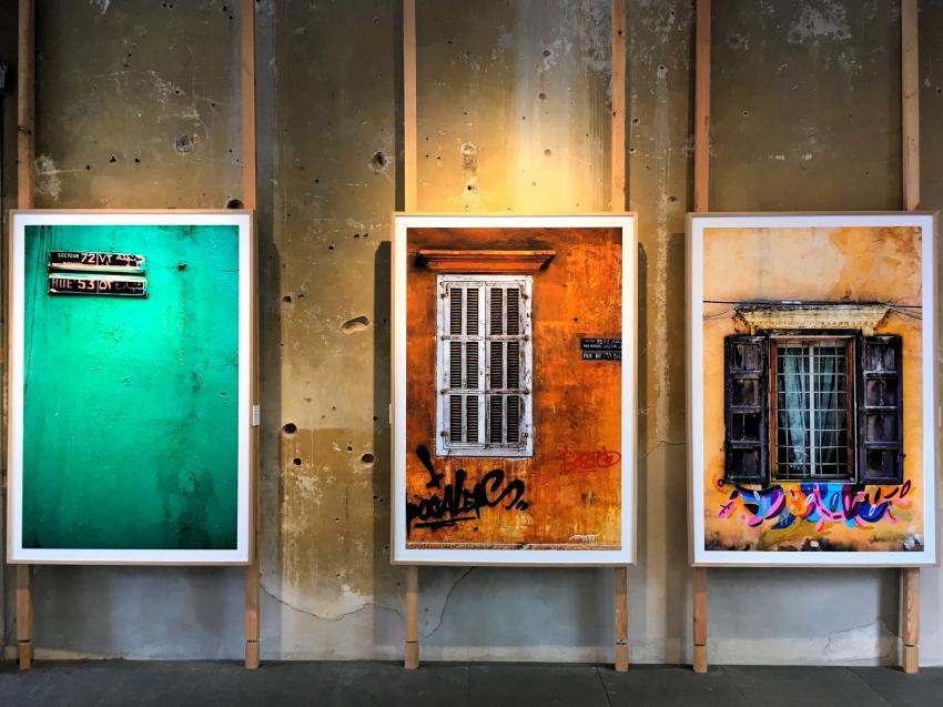 Expo de Beirut en casa baleada